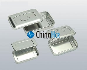 Stainless Steel Quadrate Tray With Cover