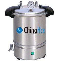 Portable type of stainless steel pressure steam sterilizer (